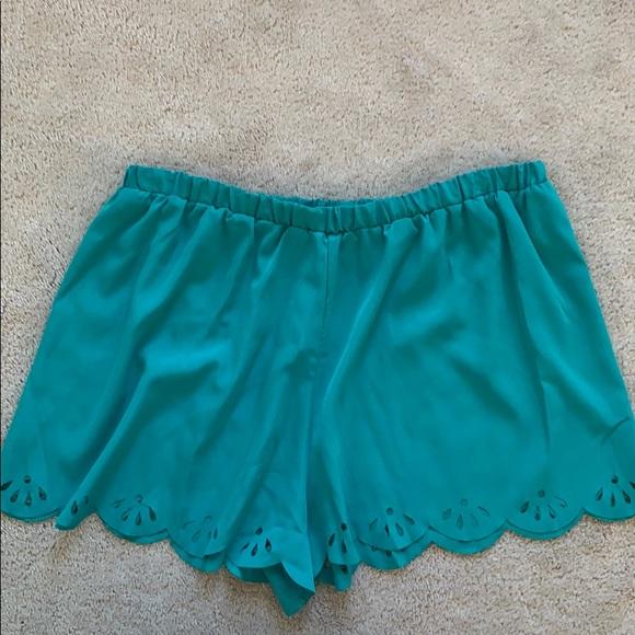 Honey Punch Pants - Blue flowy shorts